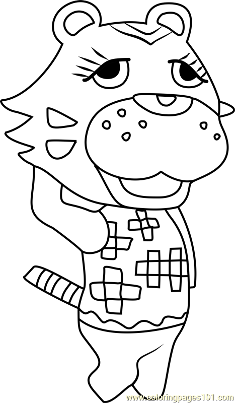 Claudia Animal Crossing Coloring Page