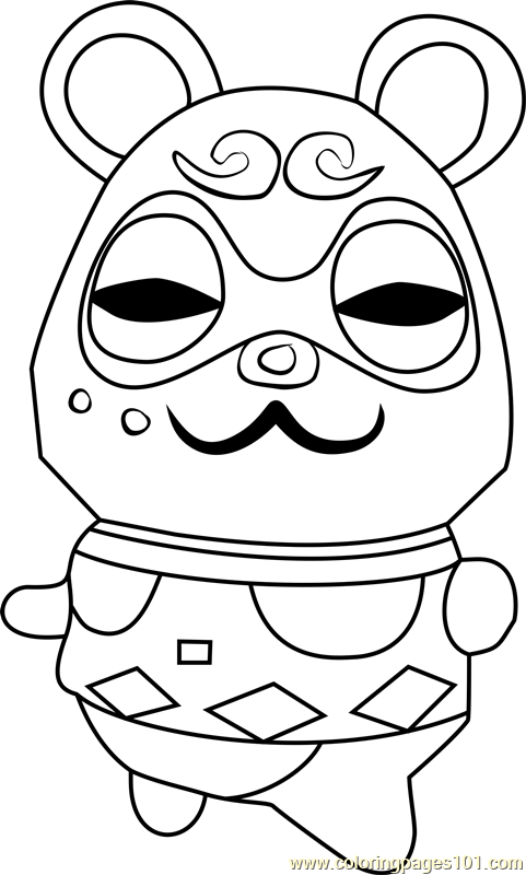 Clay Animal Crossing Coloring Page