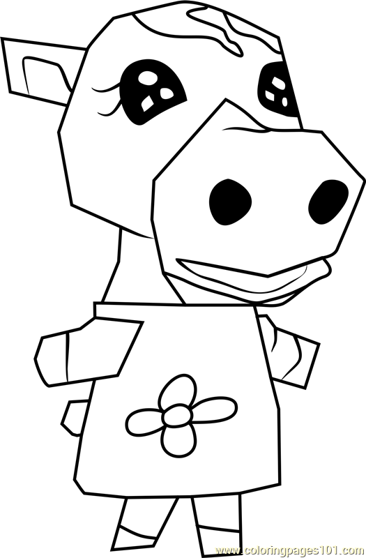 Cleo Animal Crossing Coloring Page