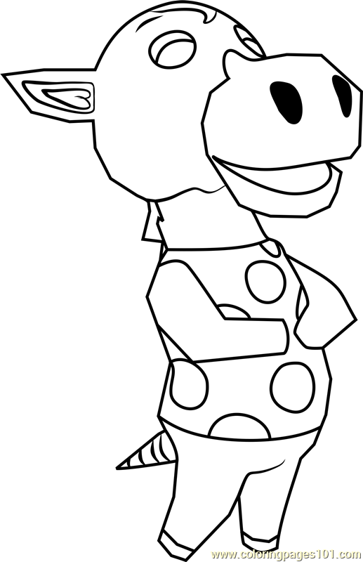 Clyde Animal Crossing Coloring Page