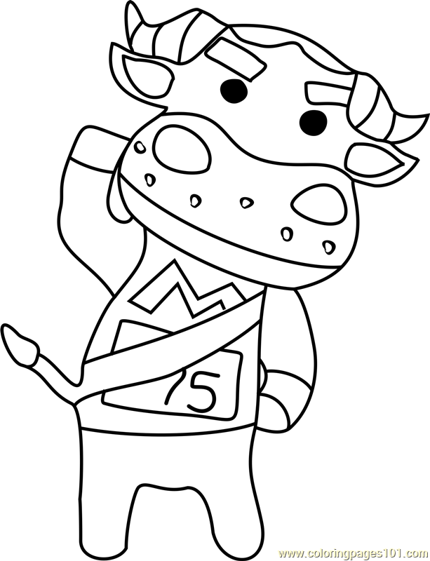 Coach Animal Crossing Coloring Page