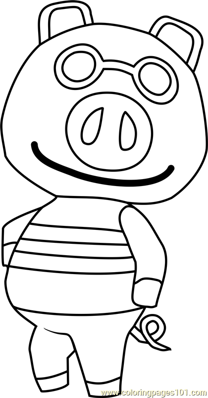 cobb animal crossing coloring page
