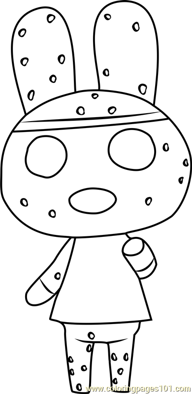 coco animal crossing coloring page free animal crossing coloring
