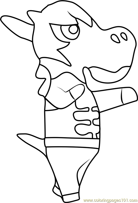 Colton Animal Crossing Coloring Page
