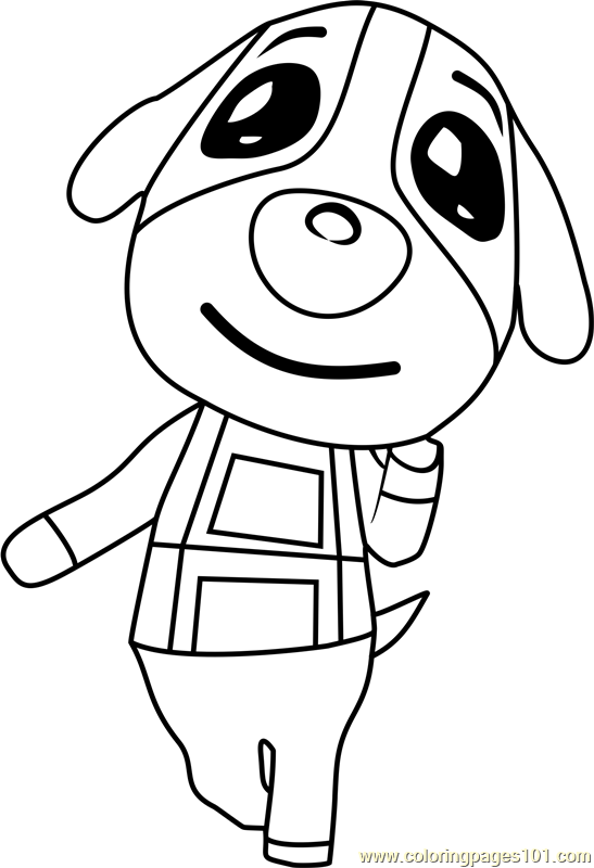 Cookie Animal Crossing Coloring Page