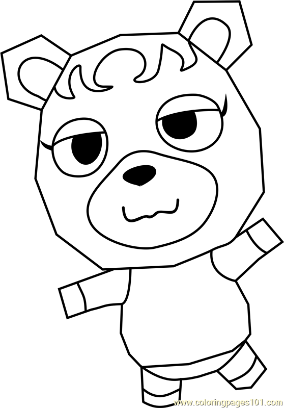 Cupcake Animal Crossing Coloring Page