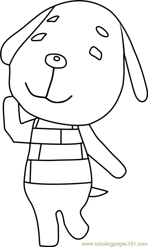 daisy animal crossing coloring page