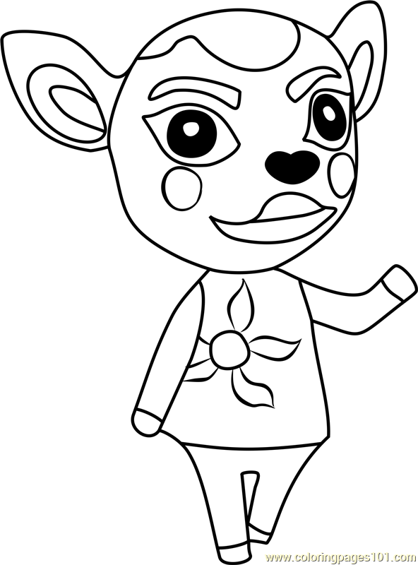 Deirdre Animal Crossing Coloring Page