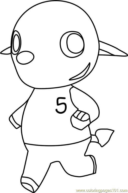 Dizzy Animal Crossing Coloring Page Free Animal Crossing