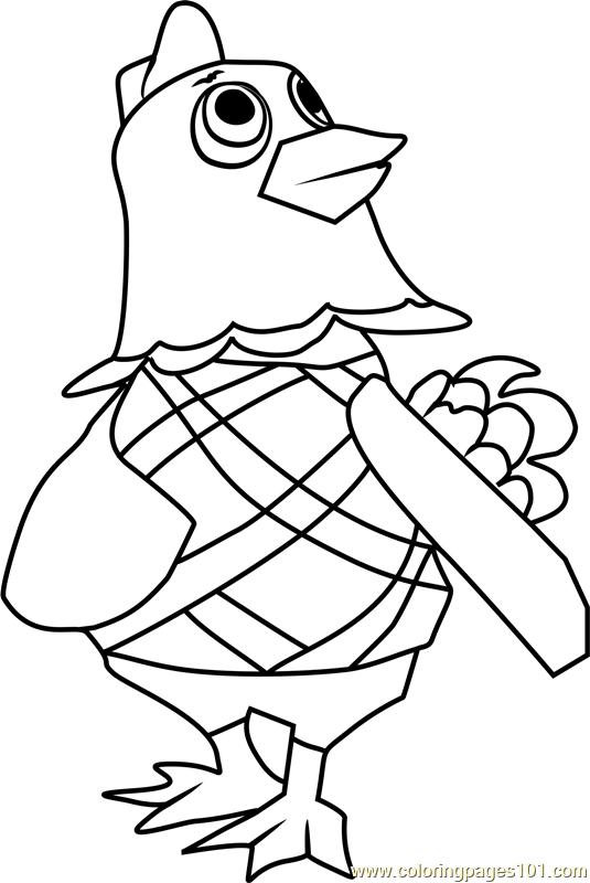 Egbert Animal Crossing Coloring Page Free Animal