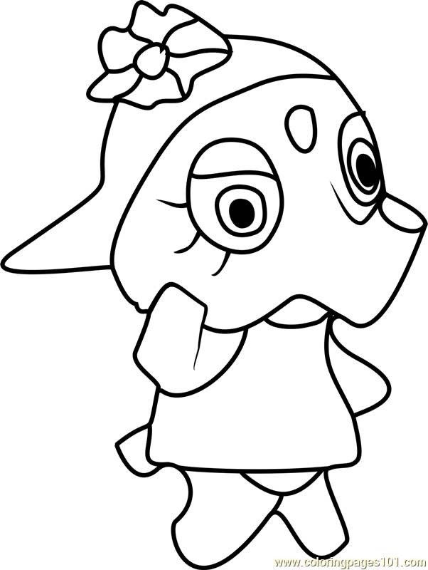 Elina Animal Crossing Coloring Page