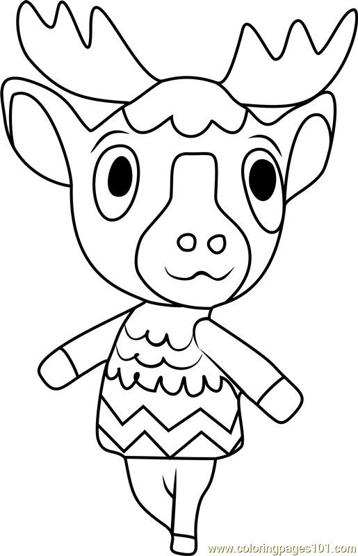 Erik Animal Crossing Coloring Page