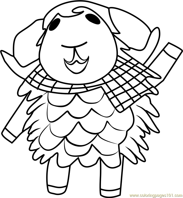 Eunice Animal Crossing Coloring Page Free Animal
