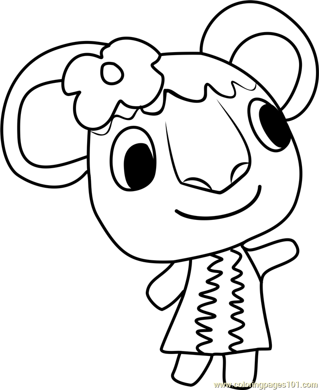 Faith Animal Crossing Coloring Page