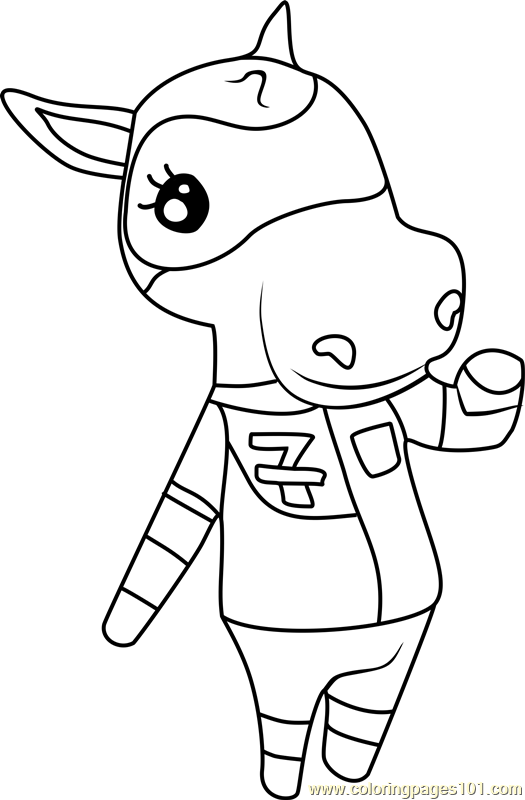 Filly Animal Crossing Coloring Page