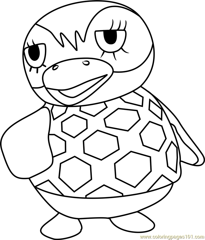 Flo Animal Crossing Coloring Page
