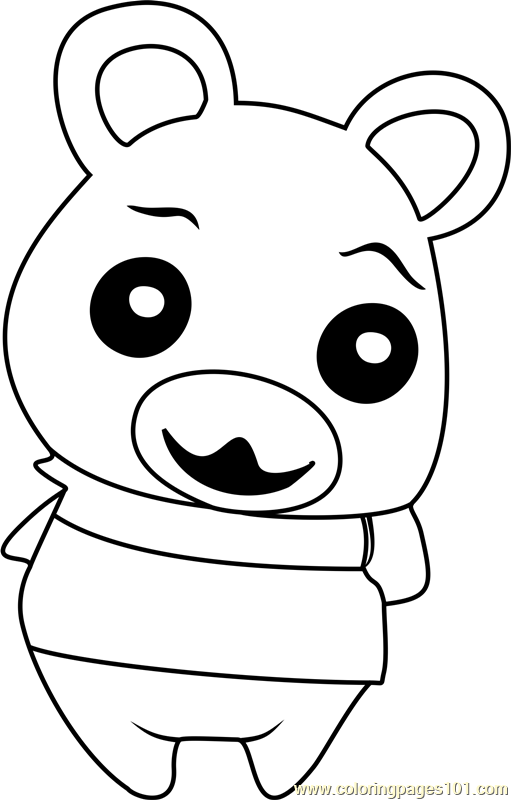 Flurry Animal Crossing Coloring Page