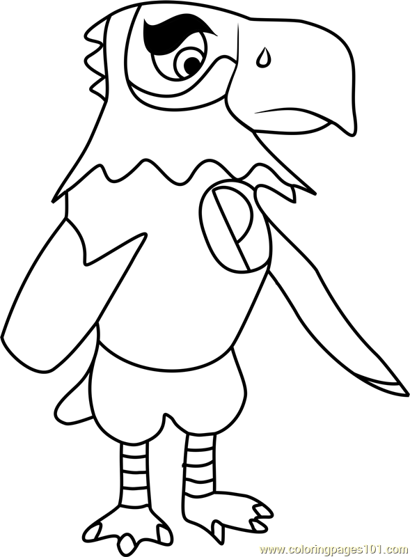 frank animal crossing coloring page