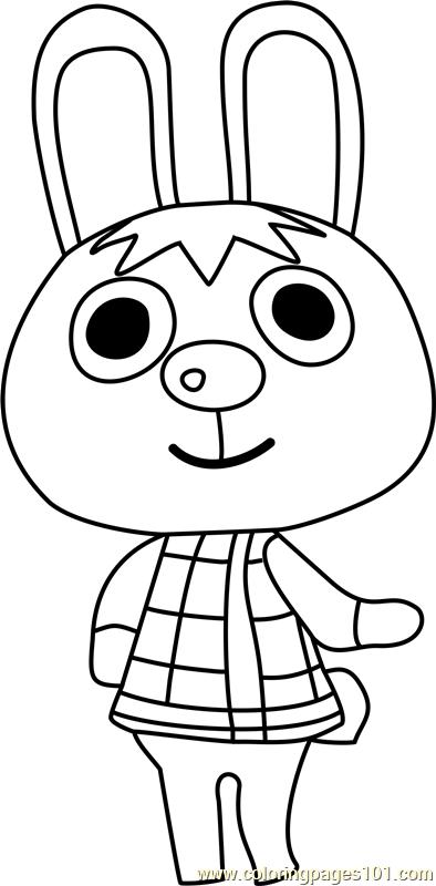 Gabi Animal Crossing Coloring Page - Free Animal Crossing ...