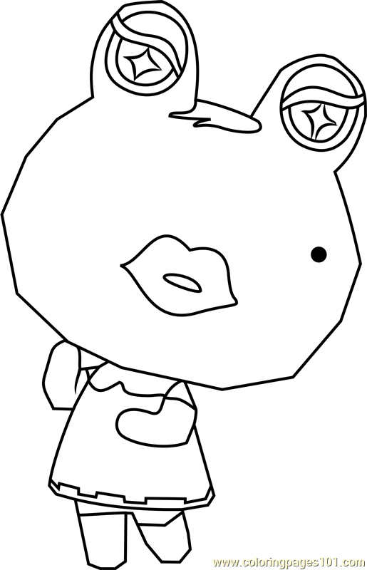 Gigi Animal Crossing Coloring Page