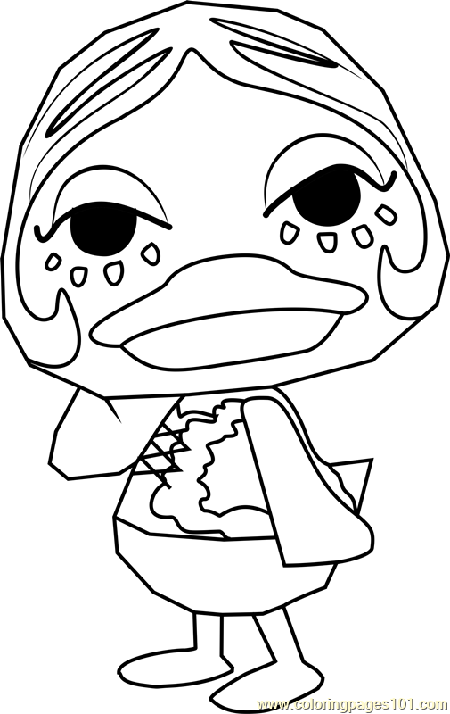 Gloria Animal Crossing Coloring Page