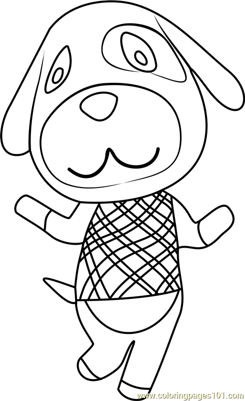 Goldie animal crossing coloring page