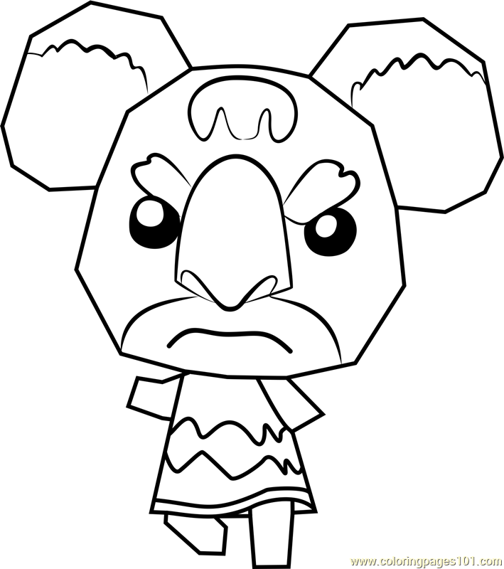 Gonzo Animal Crossing Coloring Page