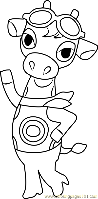 gracie animal crossing coloring page