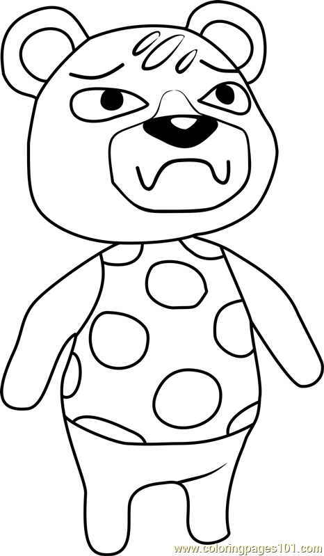 Groucho Animal Crossing Coloring