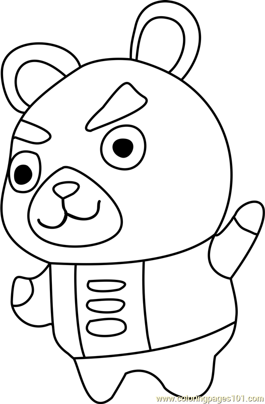 Hamphrey Animal Crossing Coloring Page