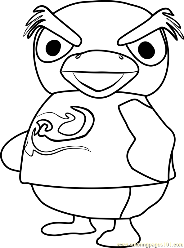 Hopper Animal Crossing Coloring Page