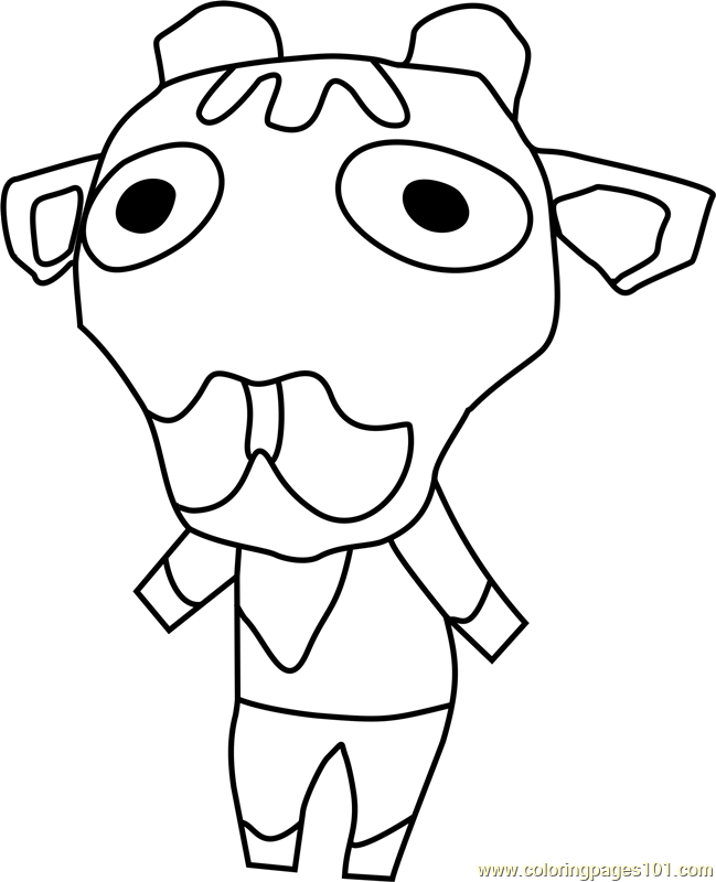 Iggy Animal Crossing Coloring Page
