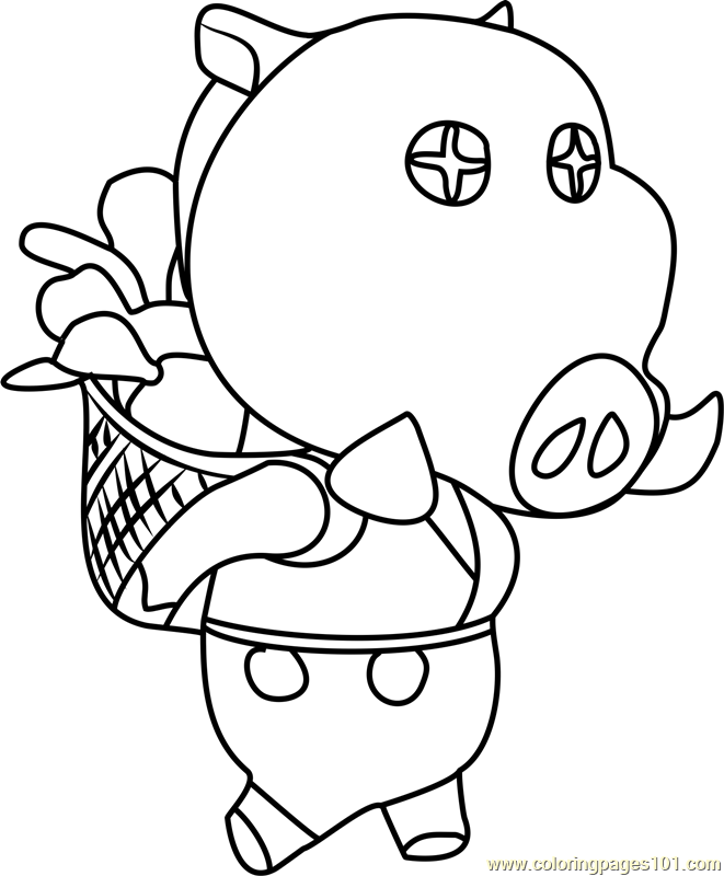 Joan Animal Crossing Coloring Page