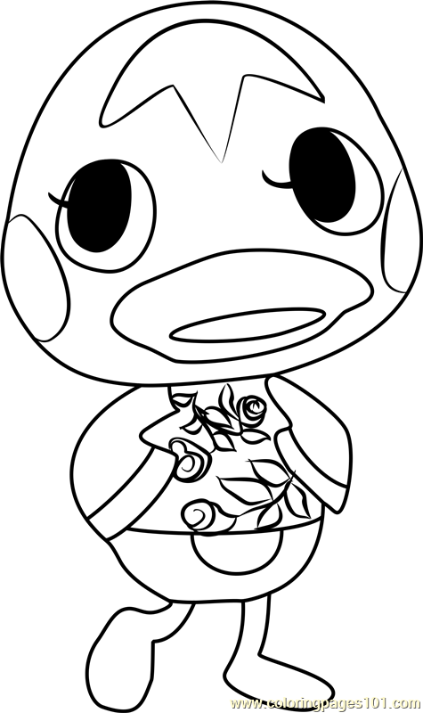 Ketchup Animal Crossing Coloring Page