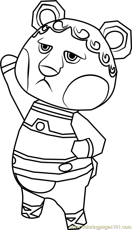 Klaus Animal Crossing Coloring Page