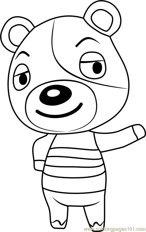 kody animal crossing coloring page