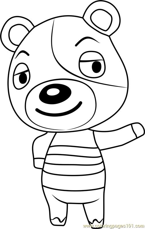 kody animal crossing coloring page