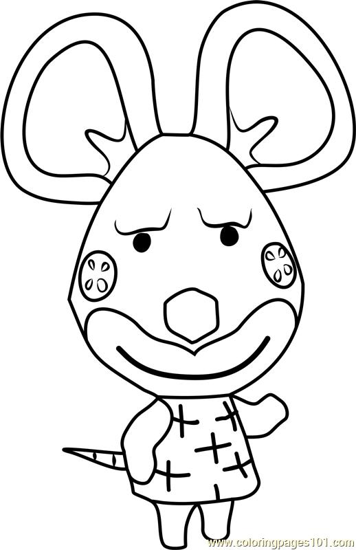 Limberg Animal Crossing Coloring Page Free Animal