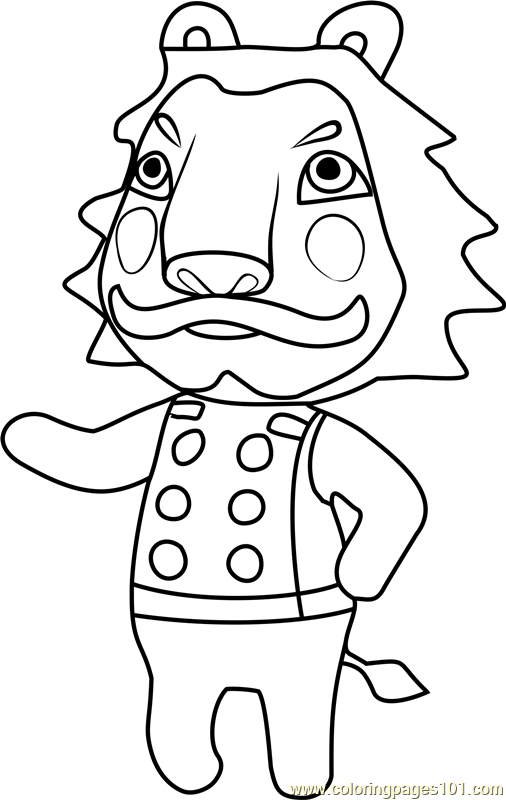 Lionel Animal Crossing Coloring Page