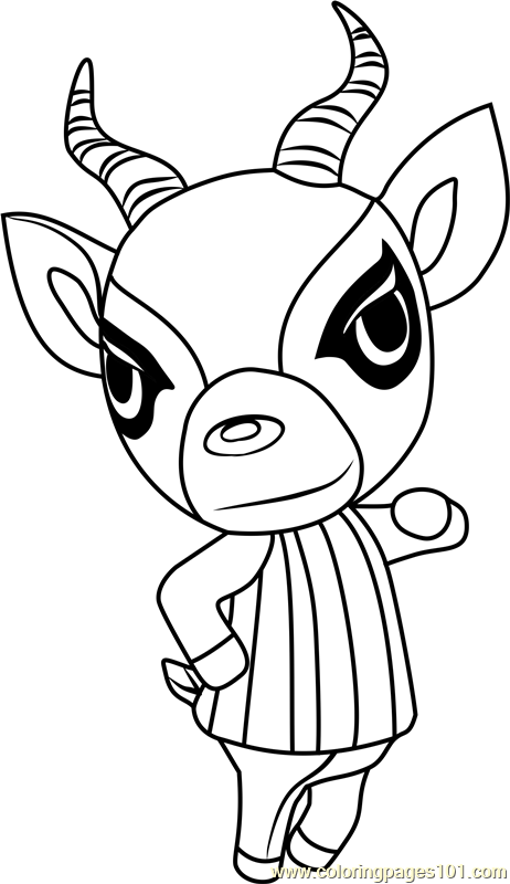 Lopez Animal Crossing Coloring Page