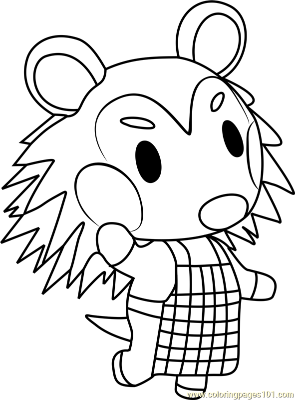 mabel animal crossing coloring page