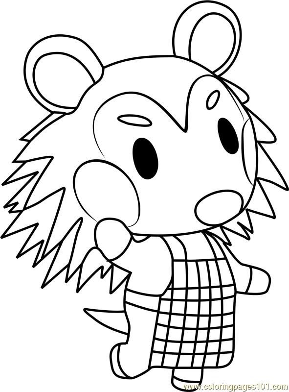 mabel animal crossing coloring page  free animal crossing