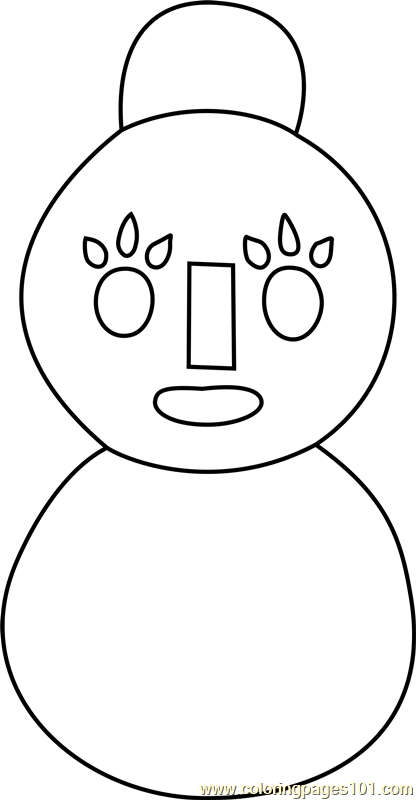 mama snowman animal crossing coloring page