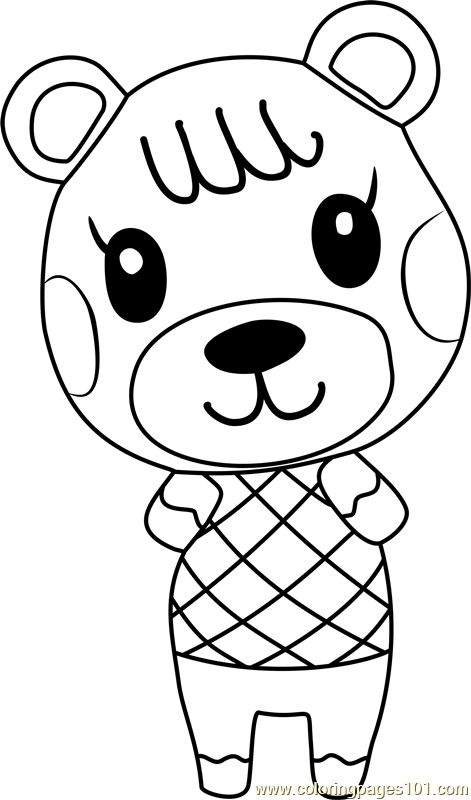 maple animal crossing coloring page - Animal Crossing Coloring Pages