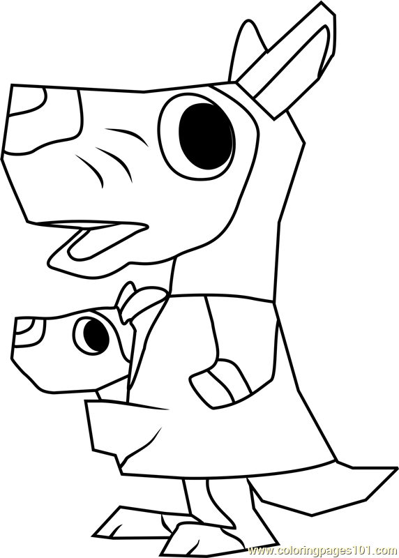 marcy animal crossing coloring page