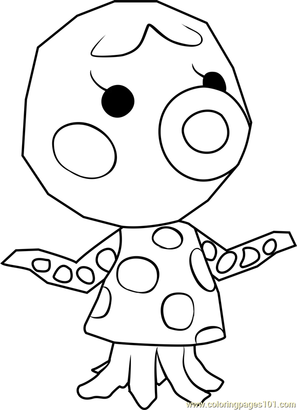 Marina Animal Crossing Coloring Page - Free Animal ...
