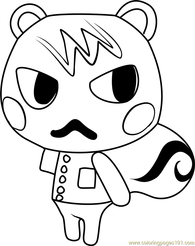 marshal animal crossing coloring page