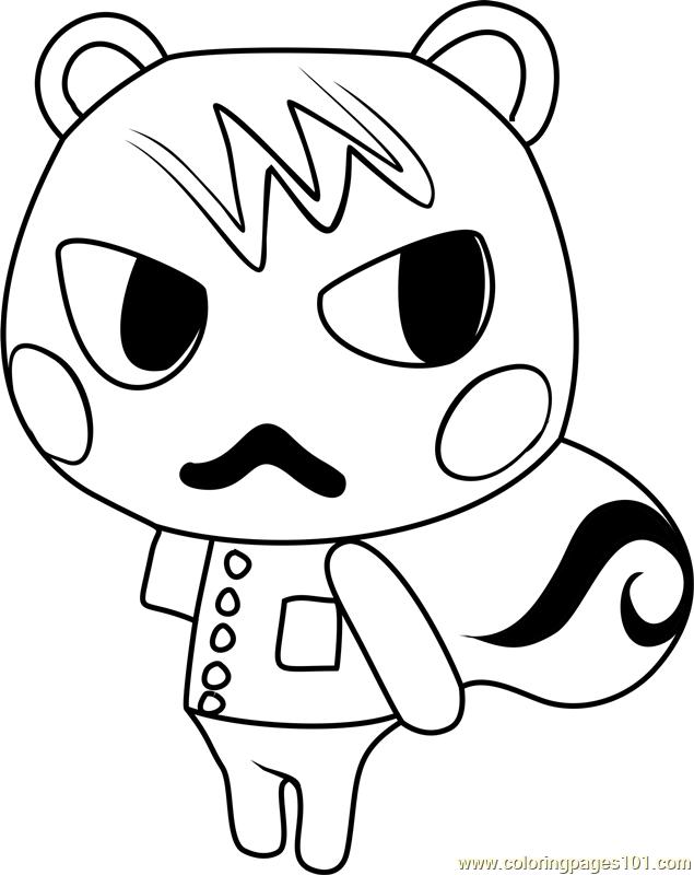 Marshal Animal Crossing Coloring