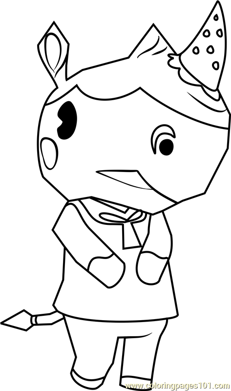 Merengue Animal Crossing Coloring Page