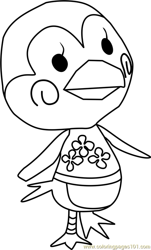 Midge Animal Crossing Coloring Page